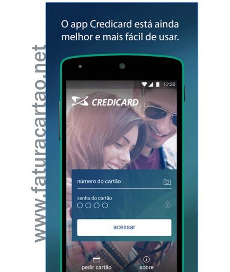Aplicativo Credicard celular