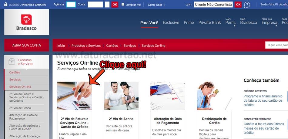 Internet Banking Bradesco Serviços