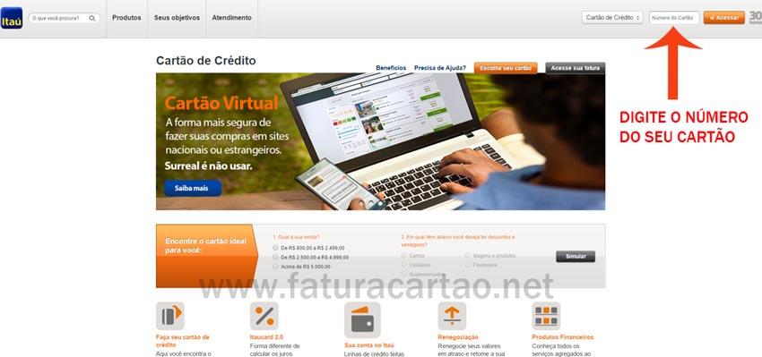 Site banco itaú cartão de crédito
